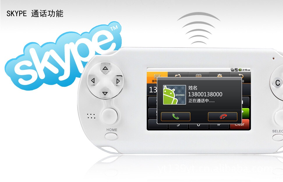 Tlex Ulike Android System Touch Screen Wifi Video Game Console with HDMI Output and Skype Support.(China (Mainland))
