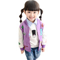 2015 baby girl colthes kids jackets spring autumn jacket for girls long sleeve baseball girl jacket