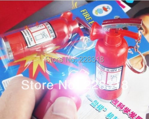 New Magic Shock Your Friend Electrostatic fire extinguisher Funny Trick Practical Shock Toy --Loveful(China (Mainland))