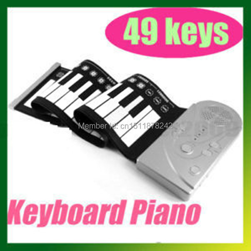 49 Keys Roll Up Electronic Flexible Foldable Keyboard piano 49 keys hand roll soft piano waterproof folding(China (Mainland))