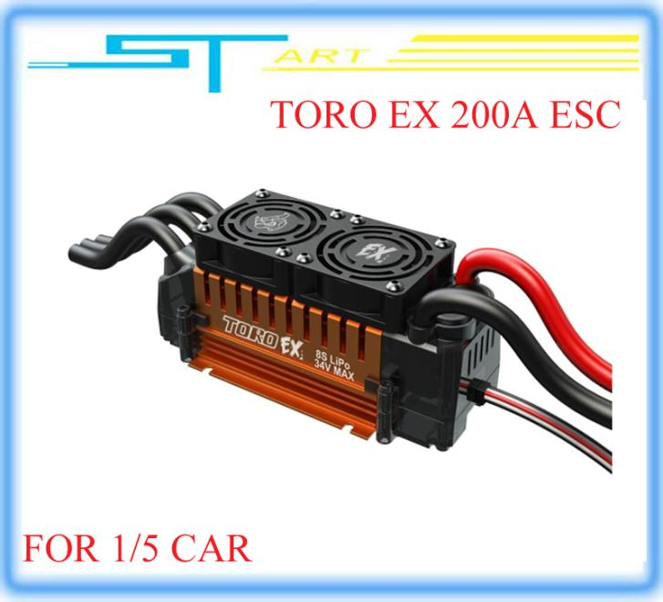 5 pcs Original Skyrc TORO EX 200A  Brushless Sensorless Speed Control ESC FOR 1/5 RC Car Buggy Truck Low Shipping Fee Whole mini<br><br>Aliexpress