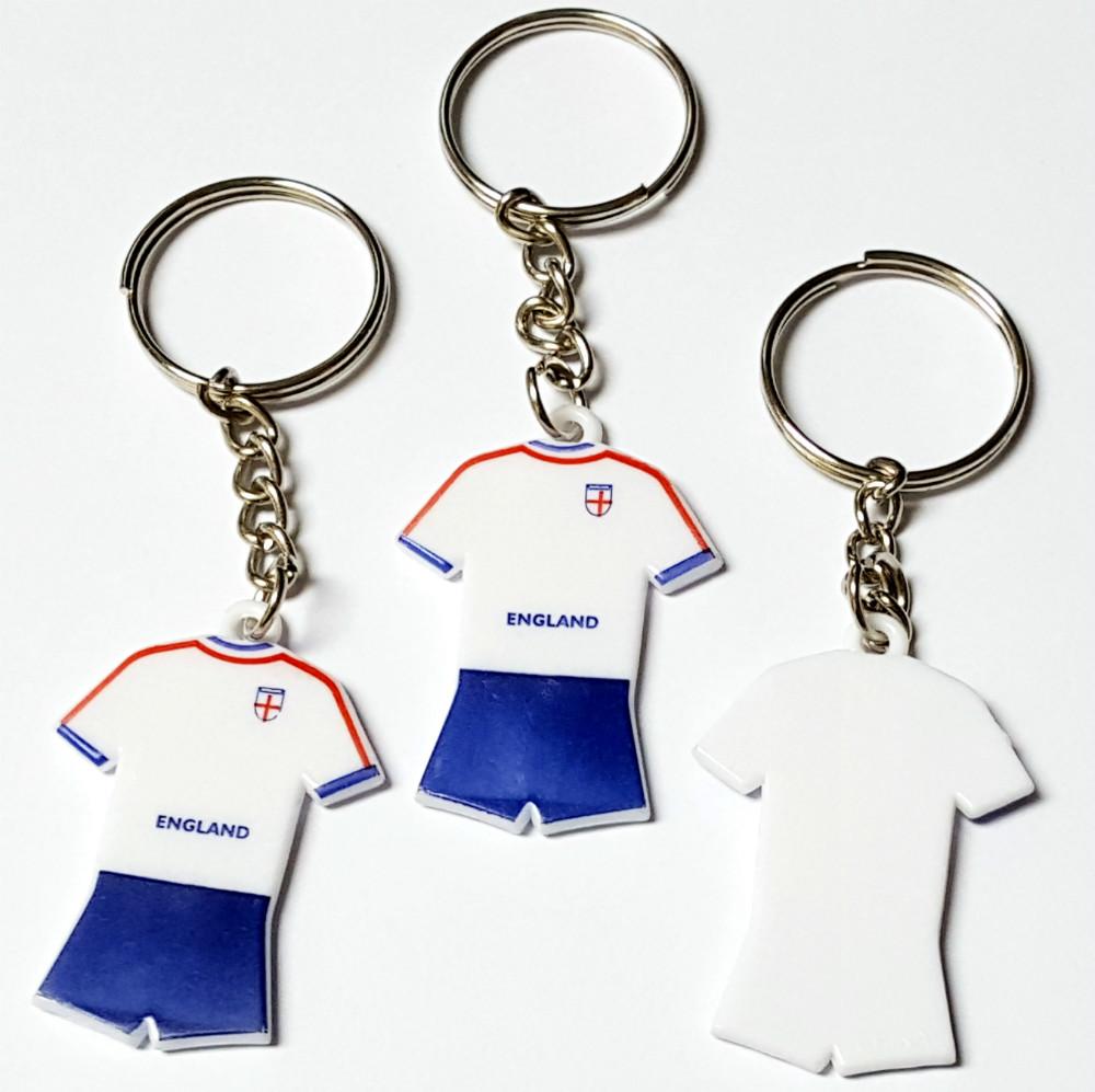 10X Key Chain w/ Football Socceer Team Uniform Shirt Kids Favour Pinata School Bag Party Favors Gift Novelty Birthday Prize(Hong Kong)