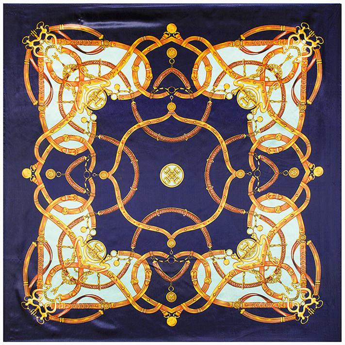 60cm*60cm H little love-chain belt Women silk satin scarf(China (Mainland))