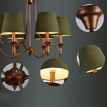 Vintage Retro Lights Lusters Chandeliers Led chandelier 6 Lamps E14 Home Light Coffee Bar Lighting Vintage Retro  Lustres(China (Mainland))