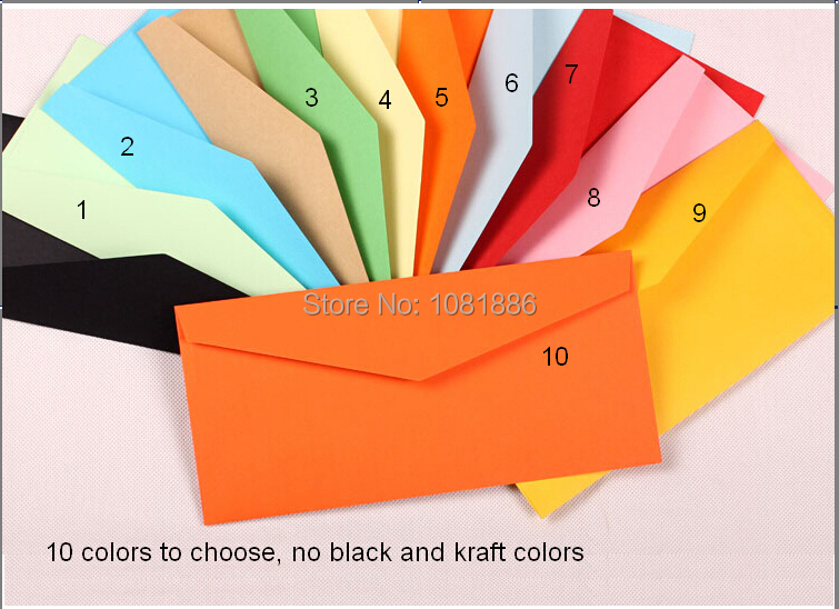 hot sale high quality white envelopes for gift card packing  Size 22*10.5cm<br><br>Aliexpress