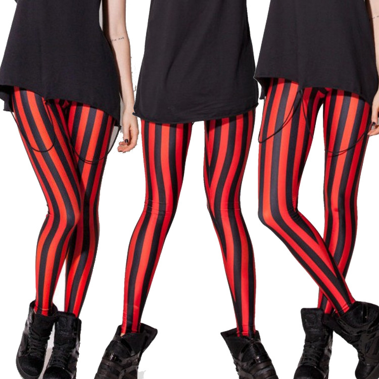 Compare Prices on Black and Red Striped Legging- Online Shopping ...