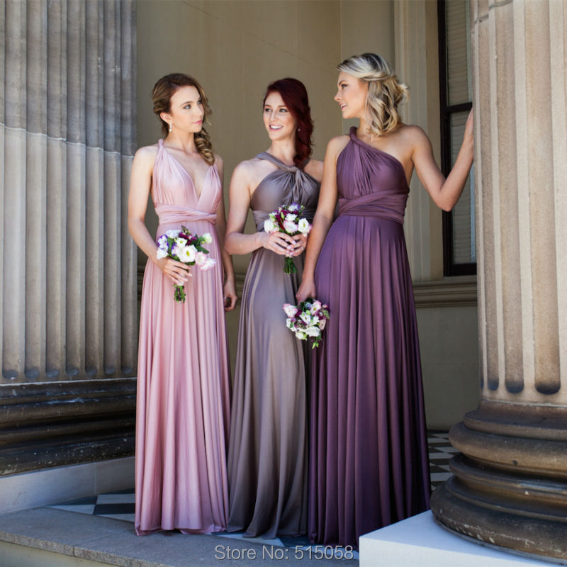 Royal Purple And Silver Bridesmaid Dresses 37