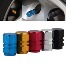 2016 4pcs/pack Theftproof Aluminum Car Wheel Tire Valves Tyre Stem Air Caps Airtight Cover silver color hot sale