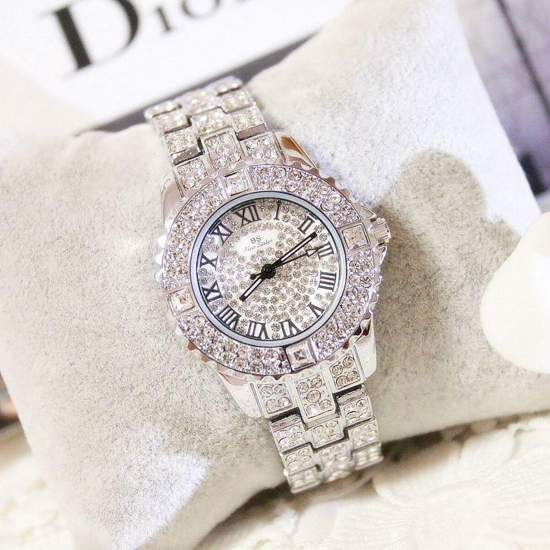 2016 Roman numerals Luxury Crystal Women quartz Watches Female Diamond Dress Watch Ladies Fashion Full Rhinestone Wristwatches<br><br>Aliexpress