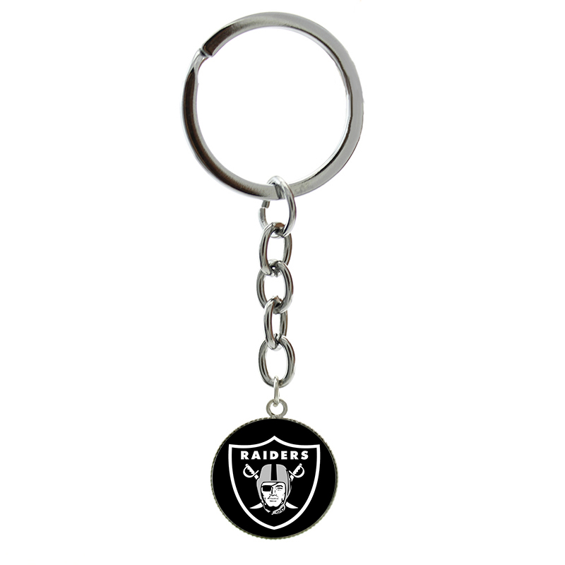 New Fashion football sport keychain case for Oakland Raiders team logo key chain personalized ball lovers gift men jewelry NF161(China (Mainland))