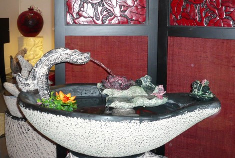 Resin craft water fountain water features humidifier water pond fish tank bonsai decorations fountain