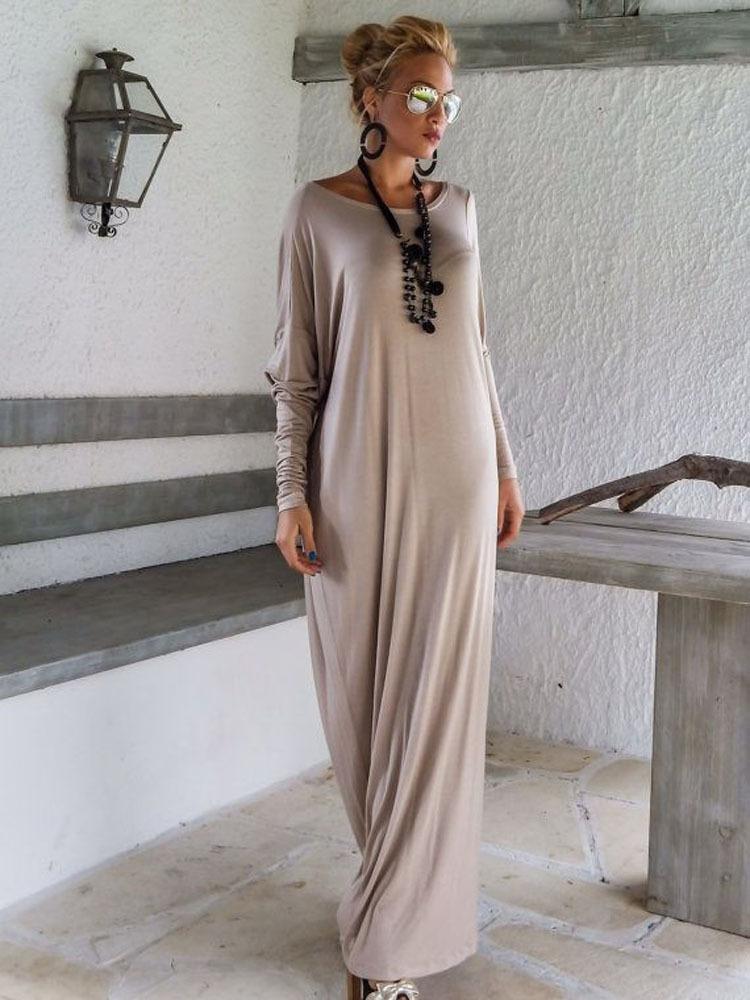 Длинное свободное платье