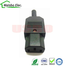 Buy New Wholesale Price 10A 250V Black IEC C13 female Plug Rewirable Power Connector 3 pin AC Socket for $6.63 in AliExpress store