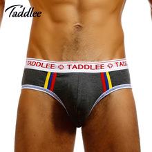 Buy Taddlee Brand Sexy Men Underwear Briefs Bikini Low Waist Designed Men's Underwear Trunks Gay Pouch WJ Man Briefs Cotton for $5.23 in AliExpress store