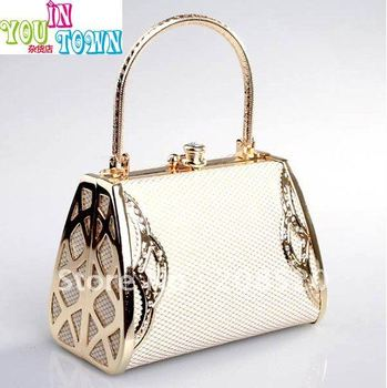 Free shipping/DJ Evening Bags/banquet nightclub bridal evening bags handbag/beige white/golden color JJ36