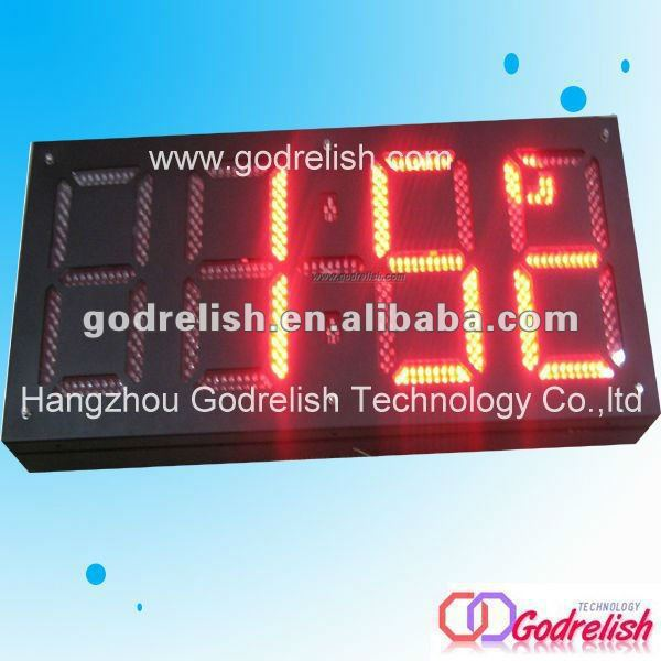led counter display outdoor timer liter counter(China (Mainland))