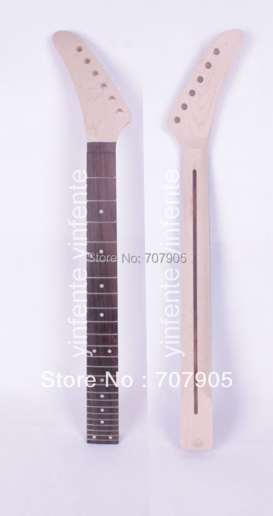 1x Unfinished electric guitar neck Maple Wood Rosewood Truss Rod 24 fret 25.5 Free shipping Dropshipping Wholesale<br><br>Aliexpress