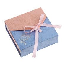 2016 New 5PCs Bracelet Jewelry Box Case Bracelets Display Ribbon Gift Box Paper Bracelet Storage Jewelry Package 9.4 x9cm(China (Mainland))