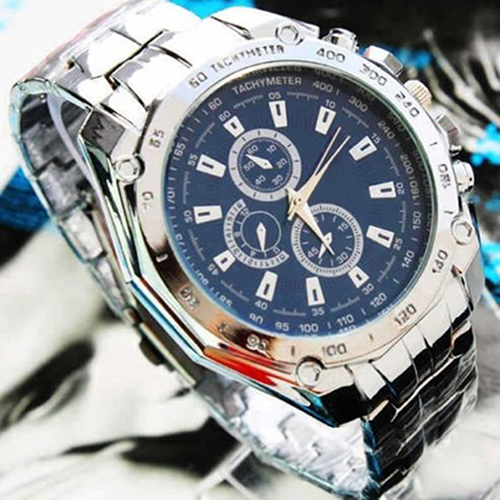 Luxury Fashion Men Stainless Steel Quartz Analog Hand Sport Wrist Watch Watches - Eternal Esther Store store