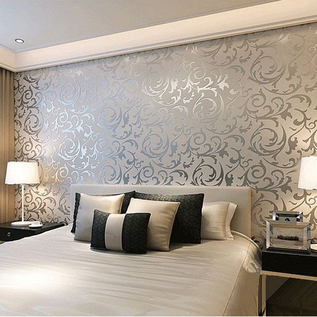 Simple european 3d stereoscopic relief crochet woven for Wallpaper decoration for bedroom