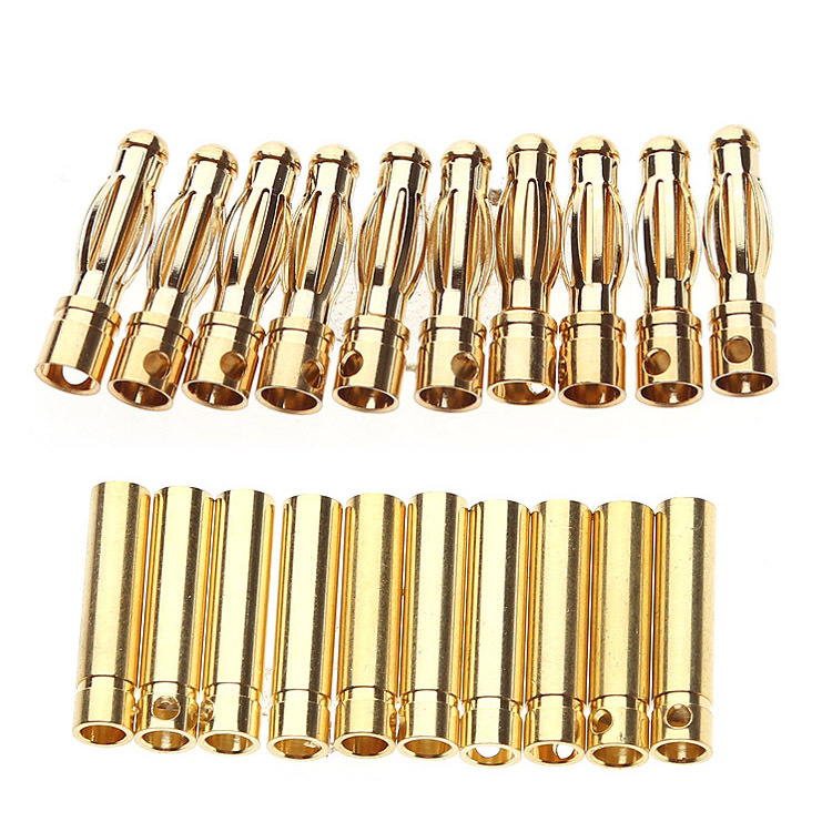 10 pairs 4.0mm Plug Connector RC Parts for DIY Airplane RC Model ESC Battery Motor SZZ-4217(China (Mainland))