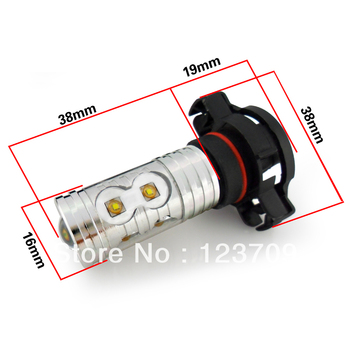 2013 Hottest Aluminium Housing 12V-24V 50W Car H16 LED Light Cree Chip