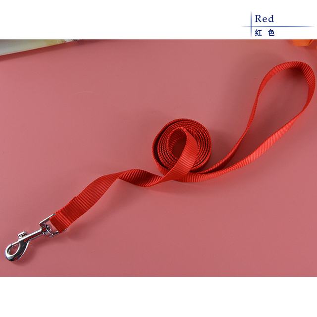 Hot Sale Nylon Solid Color Pet Product Dog Puppy Training Leash Lead