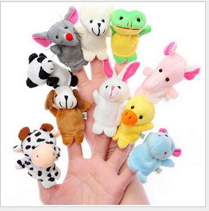 10PCS2016 The New Finger Even Parent-Child Educational Toys Small Animal To The Baby Storytelling Good Helper Hand Puppet(China (Mainland))