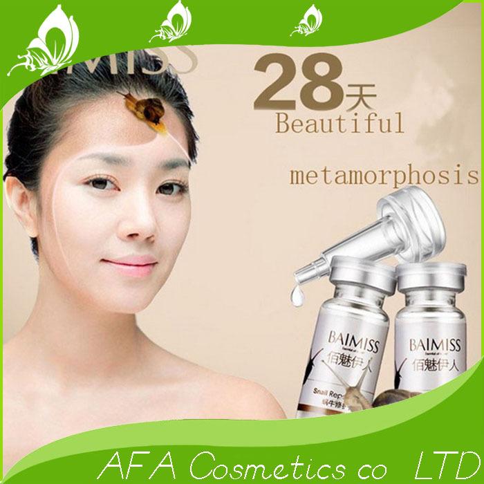 HOT SELL Snail repair liquid 10ml whitening blemish serum moisturizing acne face cream FREE SHIPPING(China (Mainland))