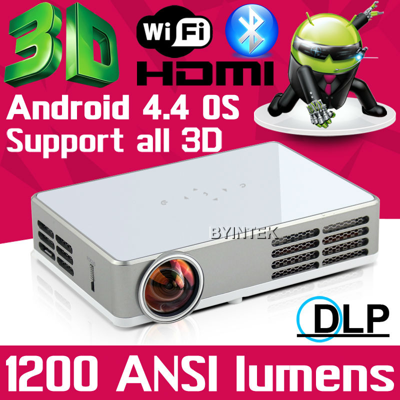 Support all 3D 1200ANSI HD 1080P Android Wifi Smart DLNA Miracast DLP HDMI VGA USB SD Handy Portable LED Mini Projector beamer(China (Mainland))