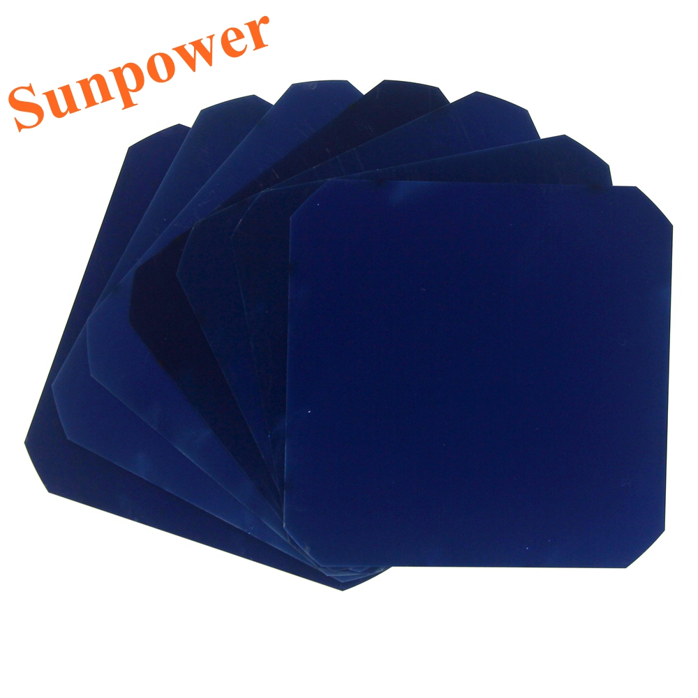 60 Pcs 3.2W/Pcs 21% Efficiency Sunpower Solar Cell Maxeon C60 Monocrystalline Silicon For DIY Flexible Solar Panel(China (Mainland))
