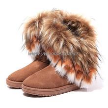 Nueva Mujer Otoño Invierno Nieve Botas Botines de Piel Caliente Zapatos planos 3 colores(China (Mainland))
