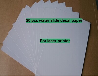 BeautY ART JOB (20 sheets/lot) A4 clear/transparent laser water transfer printing paper laser water slide decal paper(China (Mainland))