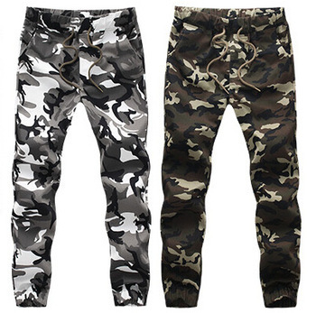 2015 HOT Dnine autumn army fashion hanging crotch jogger pants patchwork harem pants men crotch big Camouflage pants trousers(China (Mainland))