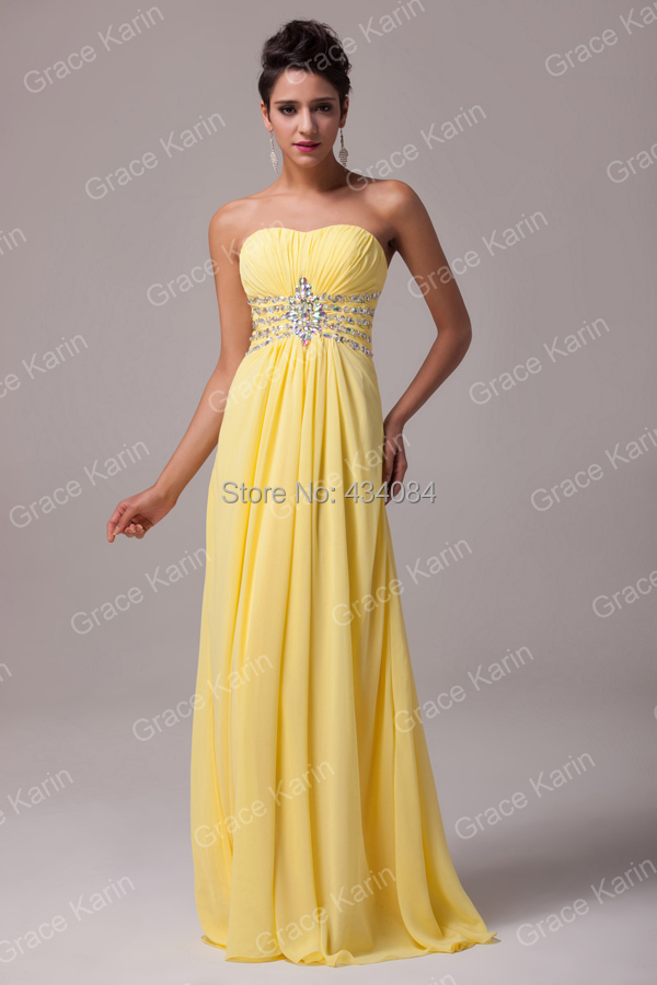 Yellow Long Bridesmaid Dress Ideas