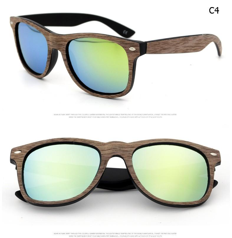 2017 Bamboo Pure Sunglasses Unisex