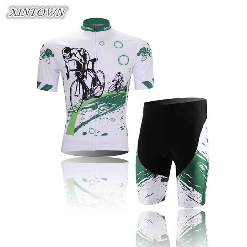 XINTOWN Biker Cycling Jersey/Cycling Clothing Sets Men's Racing Team Short Sleeve Outdoor Sportswear Jersey Padded Set - World Store store