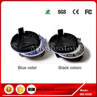4 pcs, Wheel Emblem Hub Center Caps Cover, MERCEDES Benz, Black , Blue 75mm (Fits: Mercedes-Benz)