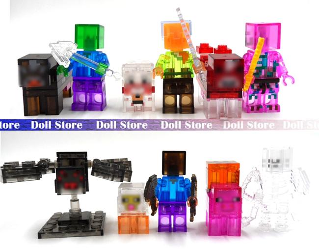 11pcs/lot 2016 PVC Crystal juguetes minecraft toys PVC action figure set best kids toys for boys blocks Minifigures Bricks(China (Mainland))