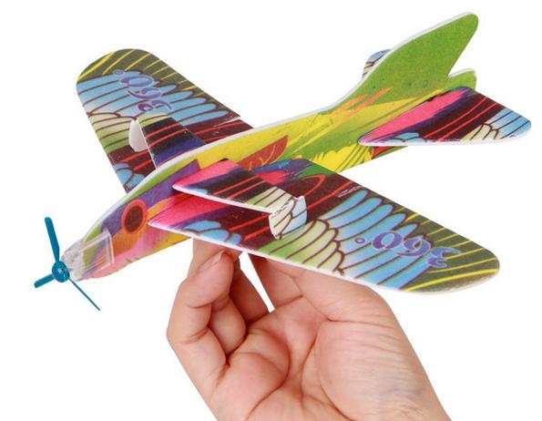 Creative Kids Toy Magic Roundabout combat aircraft foam paper airplane good baby gift GYH(China (Mainland))