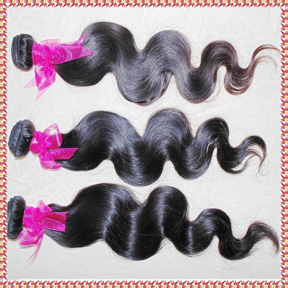 12-30 Fast shipping silky skin touch Brazilian Virgin body wave hair 2/3 bundle deals grade 9A steam style can be curled(China (Mainland))