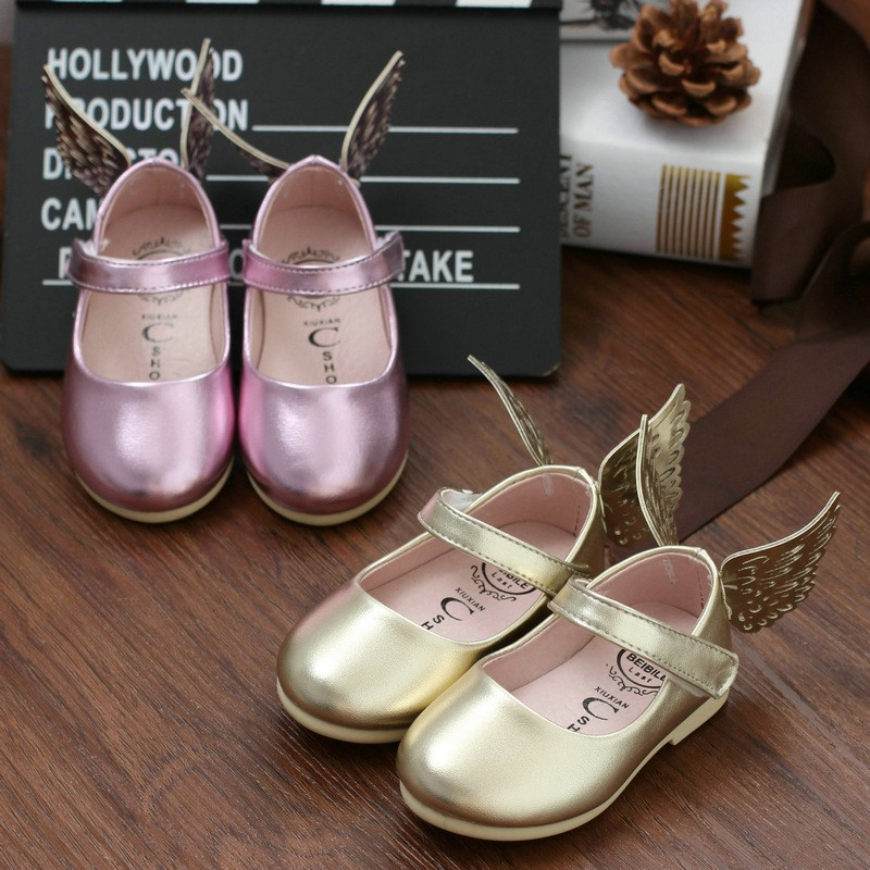 children shoes girls princess shoes fashion PU leather girl 1year birthday gift sandals kids single shoes Bowknot Summer Spring
