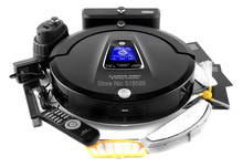 Newest Multifunction Robot Vacuum Cleaner A335(Sweep,Vacuum,Mop,Sterilize),LCD TouchScreen,Schedule,2Way VirtualWall,Self Charge(China (Mainland))