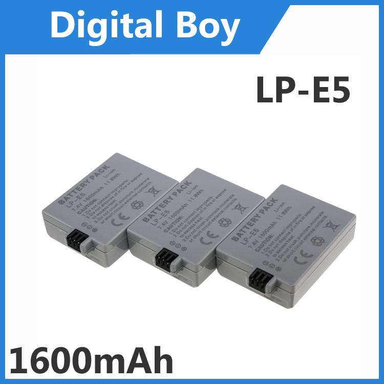 Гаджет  High Quality 3 pcs/lot 1600mAh LP-E5 LPE5 LP E5 Battery for Canon  XS XSi T1i 450D 500D 1000D None Электротехническое оборудование и материалы