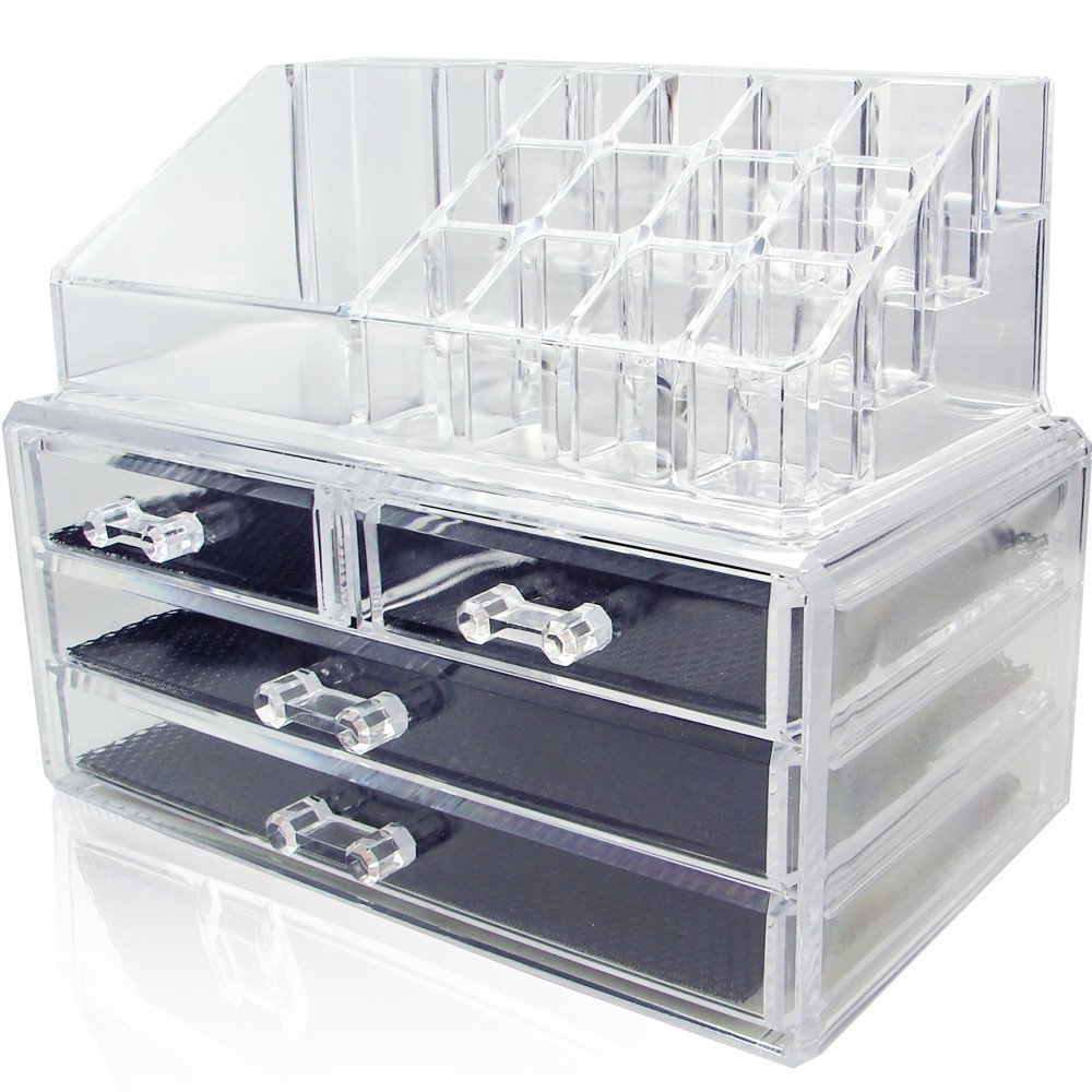 LolandoSTOR Clear Acrylic Makeup Storage Drawer Costmetics ...