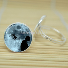 1pcs Attack on Titan  jewelry glass Cabochon Adjustable Rings D4241