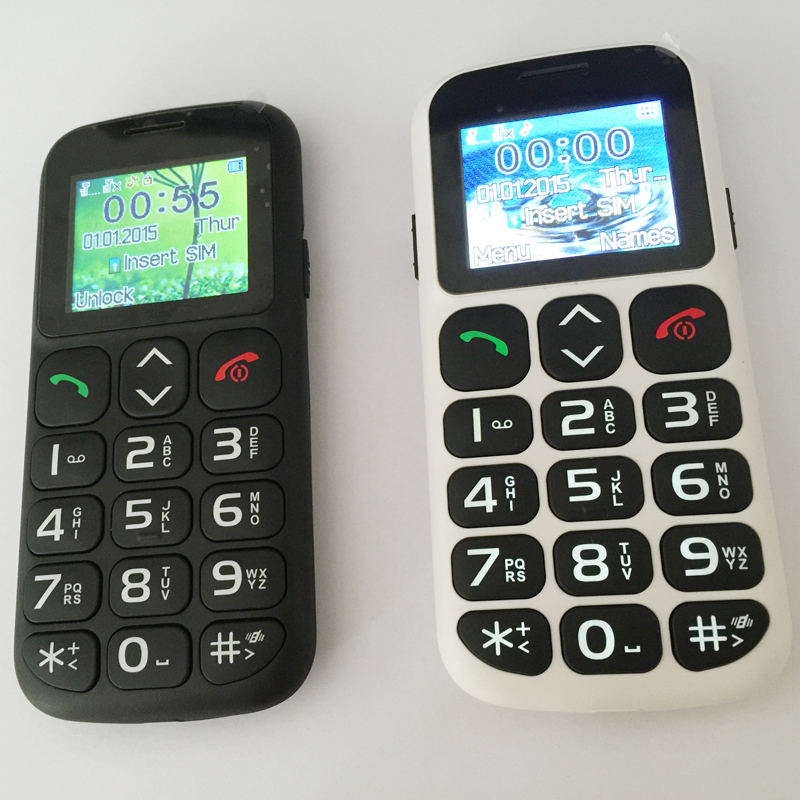 German,French,Spanish,Italian menu Voice Record SOS Torch mobile phones for old people senior W105 P76(China (Mainland))