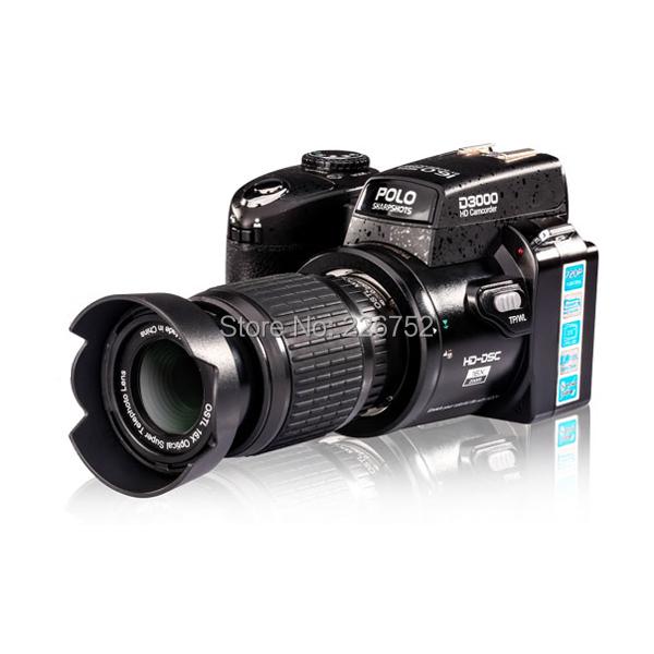 New type D3000 5.0MP 16X CMOS Sensor Digital Camera Video Recorder Supports 32GB SD Card(China (Mainland))