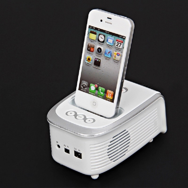 Wholesale epi001 fashional mini portable projector for for Movie projector for iphone 6