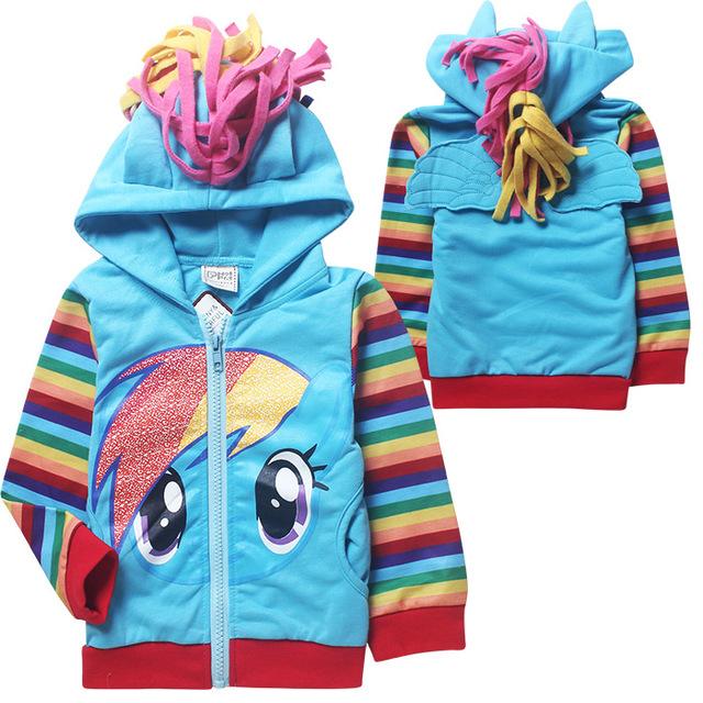 Торговля девушки парни моя маленькая девочка пони zip толстовка с капюшоном куртки ...